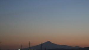 2018年10月末 夕暮れの鳥海山