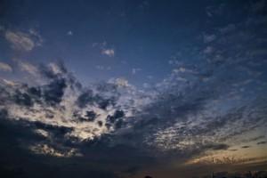 2020年11月7日 夕暮れの筋雲