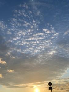 2021年7月1日 夕暮れの西の空